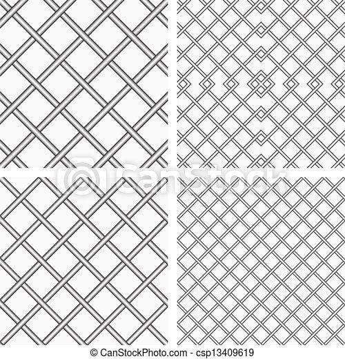 Vector Clip Art de Conjunto, dos, metal, o, Acero, Cuadrículas ...
