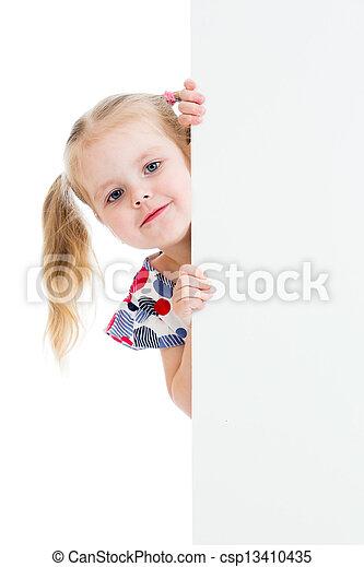 旗, ブランク, 愛らしい, 広告, 子供 - csp13410435