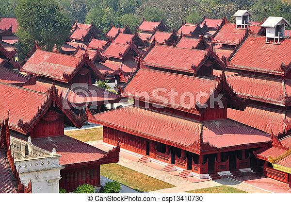 Mandalay palace, Myanmar  Burma  - csp13410730
