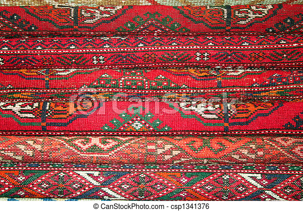 image de fait main rouges turc tapis comme fond csp1341376 recherchez des photographies. Black Bedroom Furniture Sets. Home Design Ideas