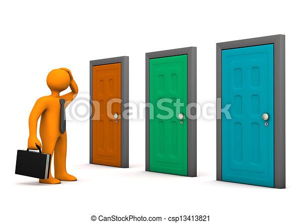 Three doors Clipart and Stock Illustrations 6665 Three doors
