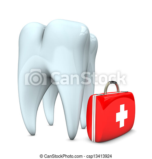 Tooth Emergency Case - csp13413924