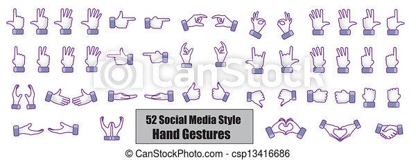 Facebook Type Hand Gestures