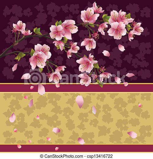 vektor illustration von hintergrund sakura zweig japanisches kirschen baum. Black Bedroom Furniture Sets. Home Design Ideas