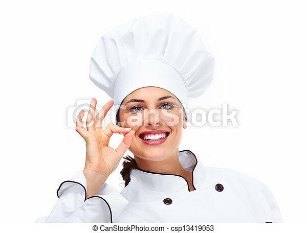 Chef woman. - csp13419053