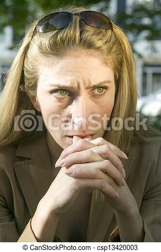 woman looking concerned - csp13420003