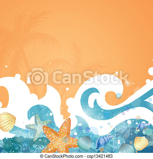 Vector Summer Background - csp13421483