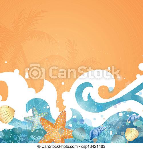 Vector Summer Background - csp13421483