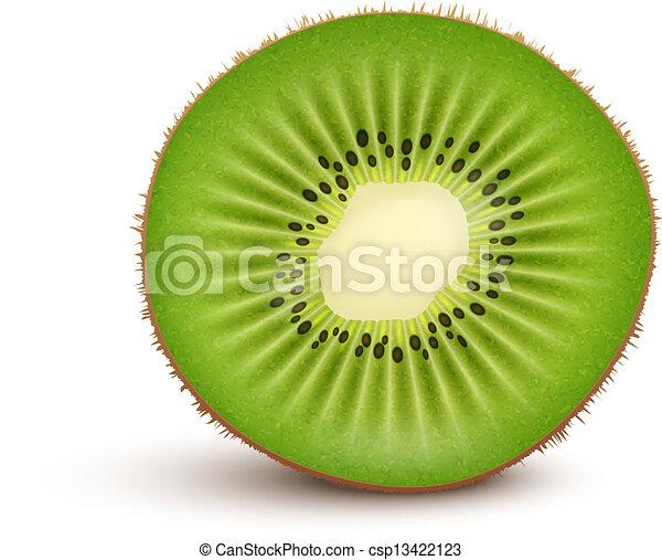 Kiwi Slice Drawing Fresh Kiwi Fruit Slice Clip