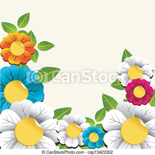 Easy Colorful Flowers Drawings