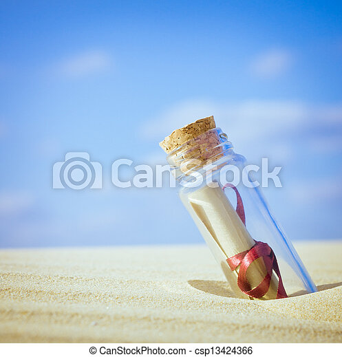 Message in a bottle - csp13424366