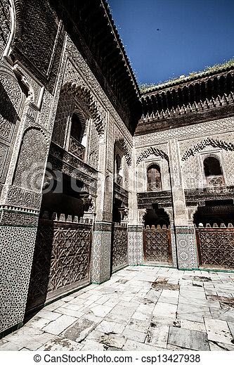This Medersa is a religious school or college for the study of the Islamic religion. - csp13427938