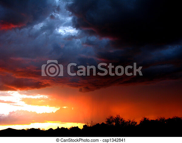 Monsoon Sunset - csp1342841