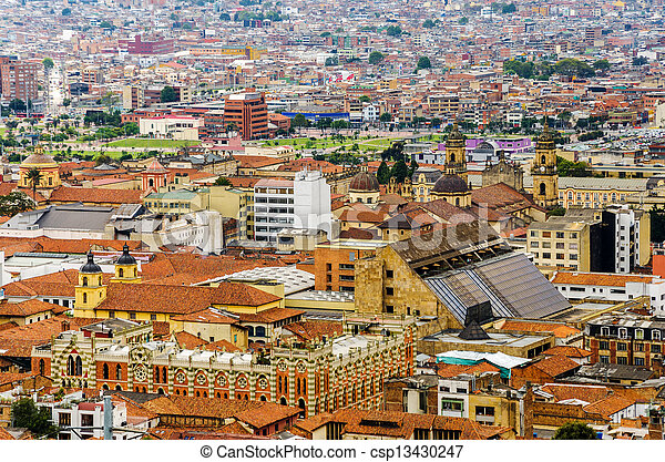 La Candelaria Historic Neighborhood in Bogota - csp13430247