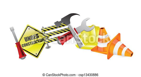 under construction concept illustration design - csp13430886