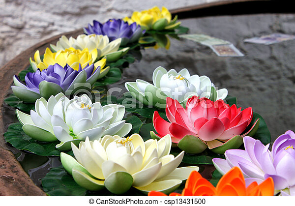 religion flower in Jokhang Temple - csp13431500