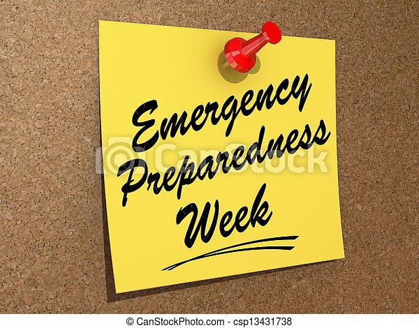 Emergency Preparedness Week - csp13431738