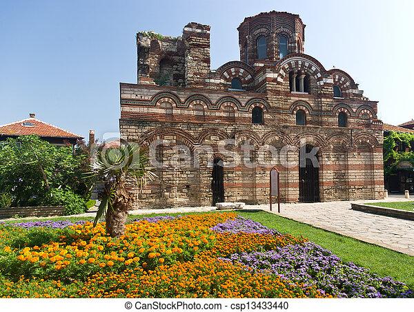 medieval church in Bulgaria - csp13433440