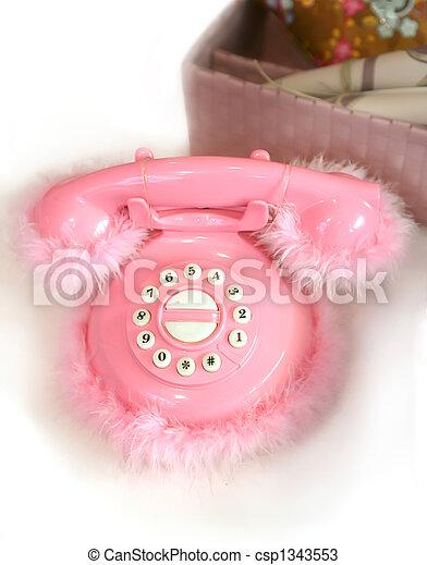 children rosy telephone - csp1343553