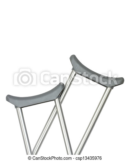 Crutches,  closeup - csp13435976