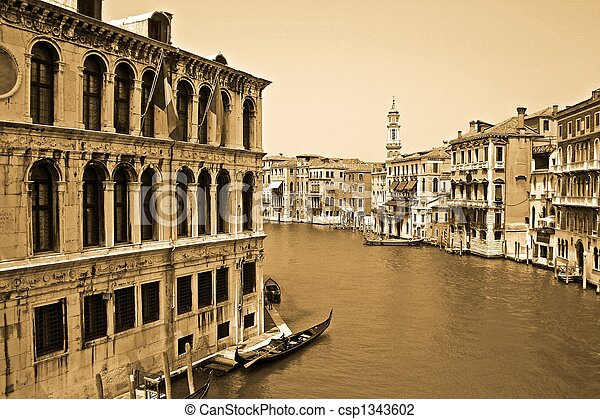 Canal in Venice, Italy - csp1343602