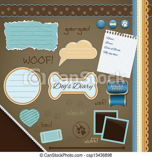 Scrapbooking Set: My Dog's Diary - csp13436898
