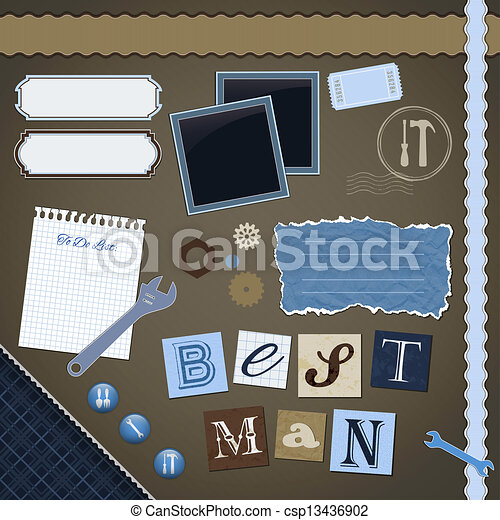 Scrapbooking Set: Best Man  - csp13436902