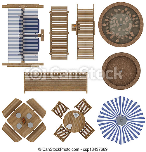 Garden Furniture Top View stock image of outdoor furniture set - set of outdoor furniture