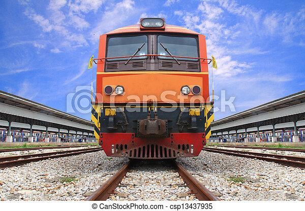 vintage train  - csp13437935