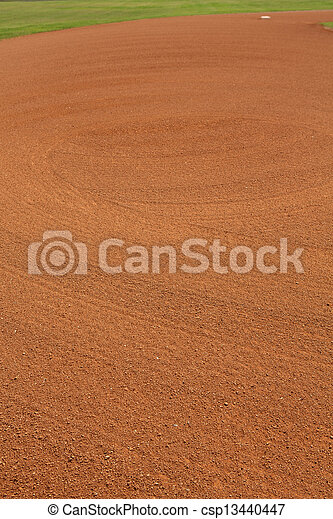 Baseball Infield Dirt Patterns - csp13440447