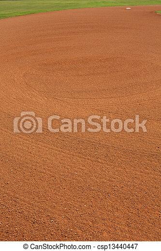 Baseball Infield Dirt Patterns - csp13440447