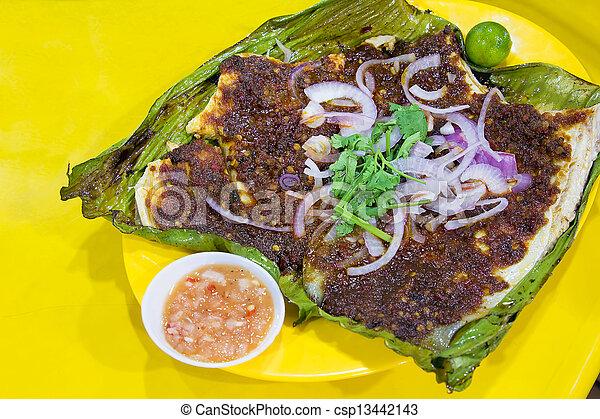 Stingray Fish with Sambal Chili Sauce - csp13442143
