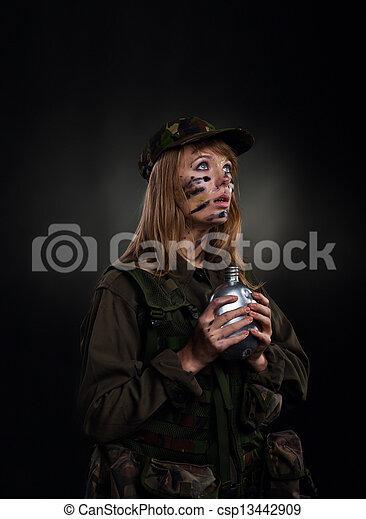 military girl - csp13442909
