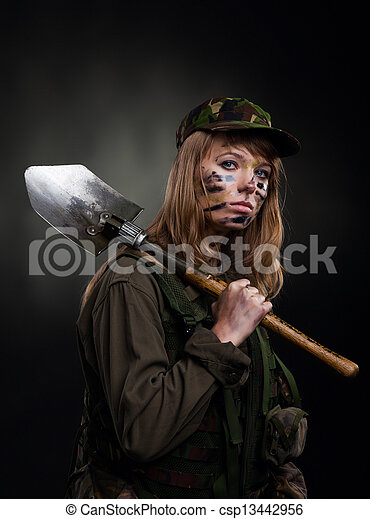 military girl - csp13442956