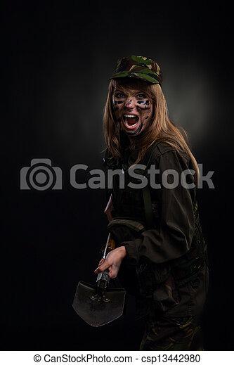 military girl - csp13442980