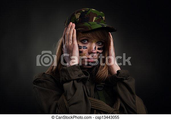 military girl - csp13443055