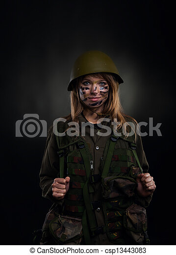 military girl - csp13443083