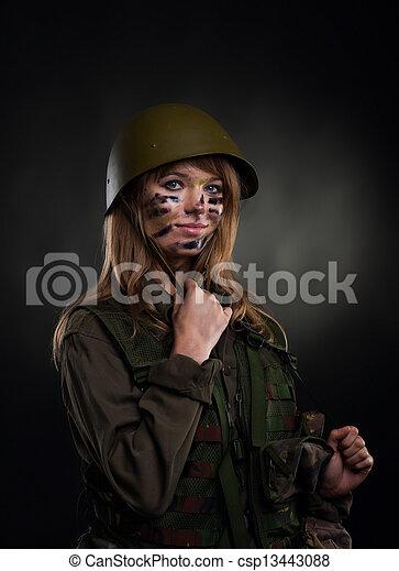 military girl - csp13443088