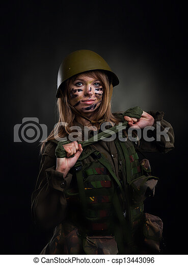 military girl - csp13443096