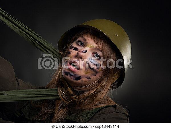 military military girl - csp13443114