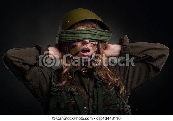 military  girl - csp13443116