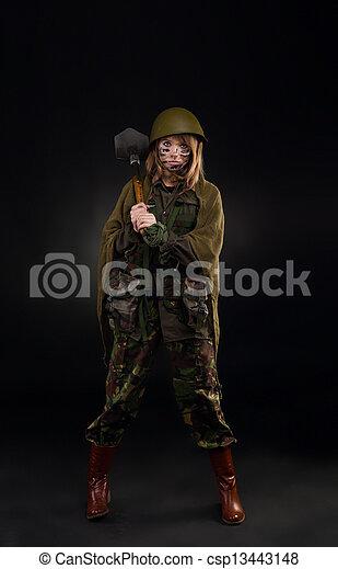 military girl - csp13443148