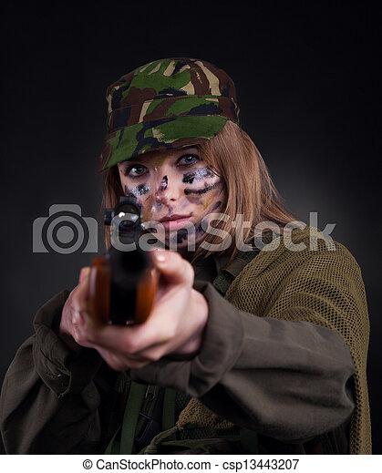military girl - csp13443207