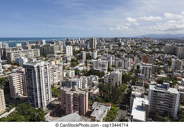 San Juan Puerto Rico Aerial - csp13444714