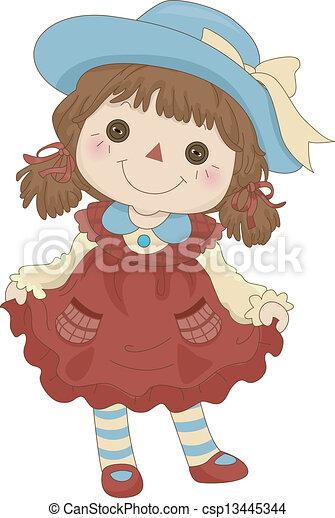 Toy Rag Doll - csp13445344