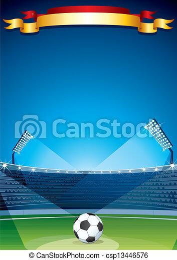 Soccer Stadium Background. Vector Design Template - csp13446576