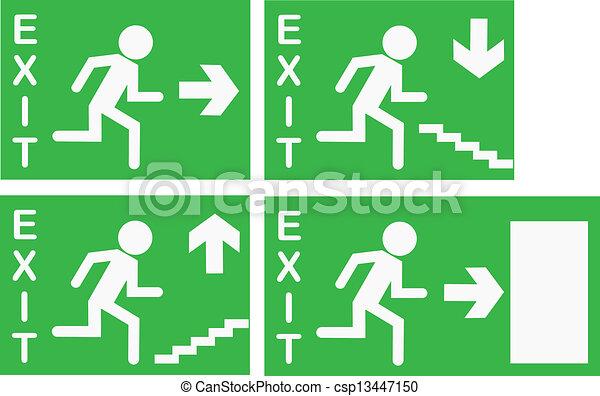 Vector Exit Signs - csp13447150