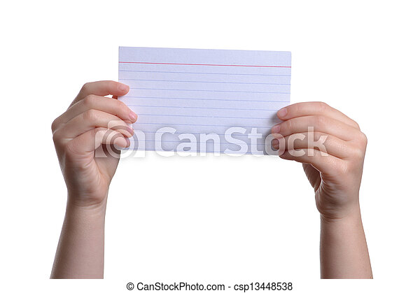 Stock Photos of Index Card - child holding a blank paper ...