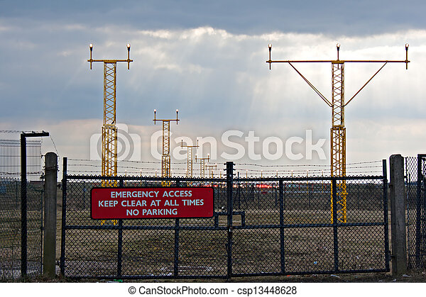 Emergency access to airfield - csp13448628