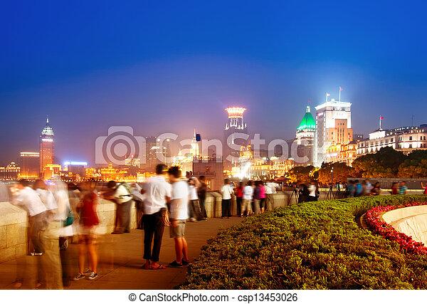 Night at the bund in Shanghai